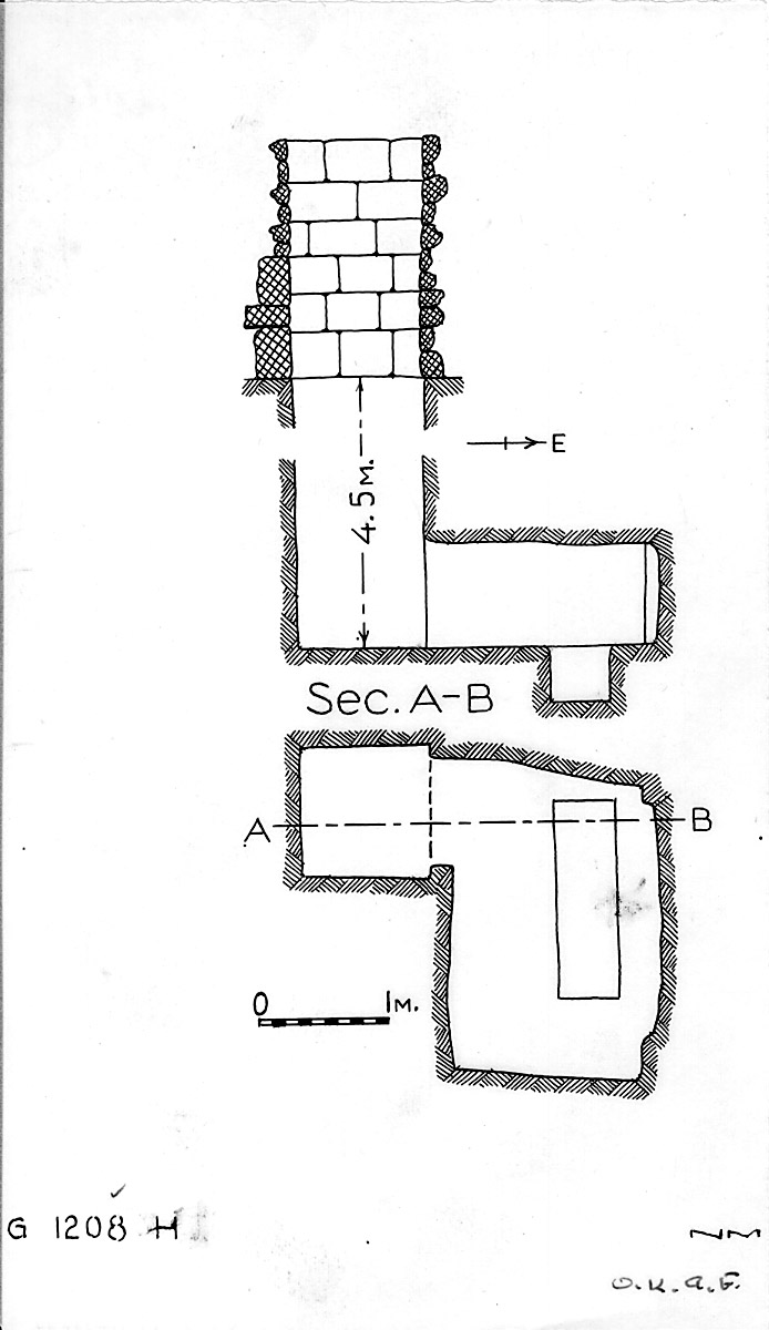 Maps and plans: G 1208, Shaft H