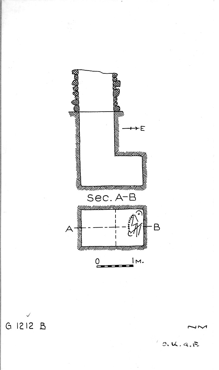 Maps and plans: G 1212, Shaft B