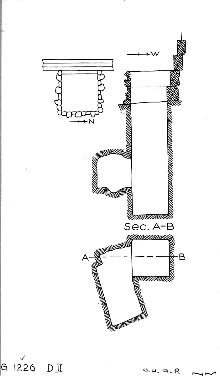 Maps and plans: G 1226, Shaft D2