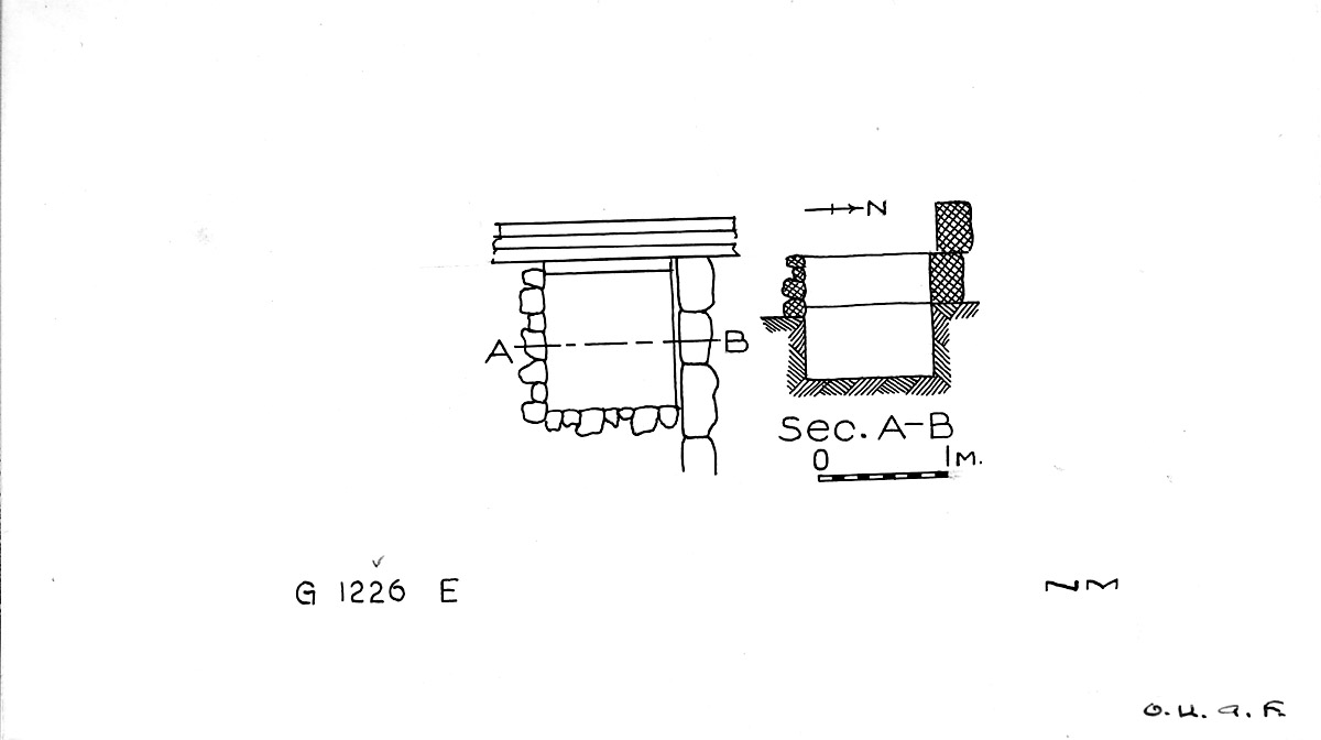Maps and plans: G 1226, Shaft E