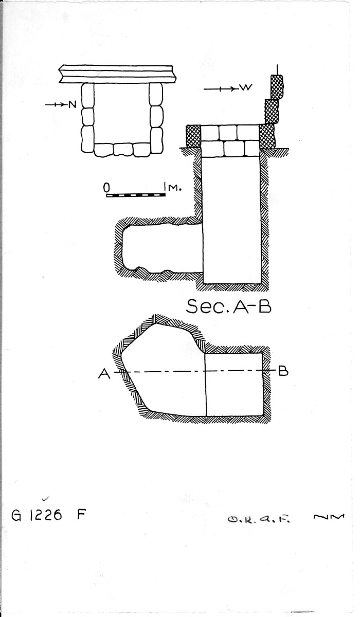 Maps and plans: G 1226, Shaft F