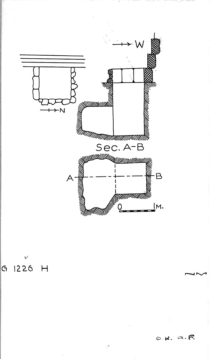 Maps and plans: G 1226, Shaft H