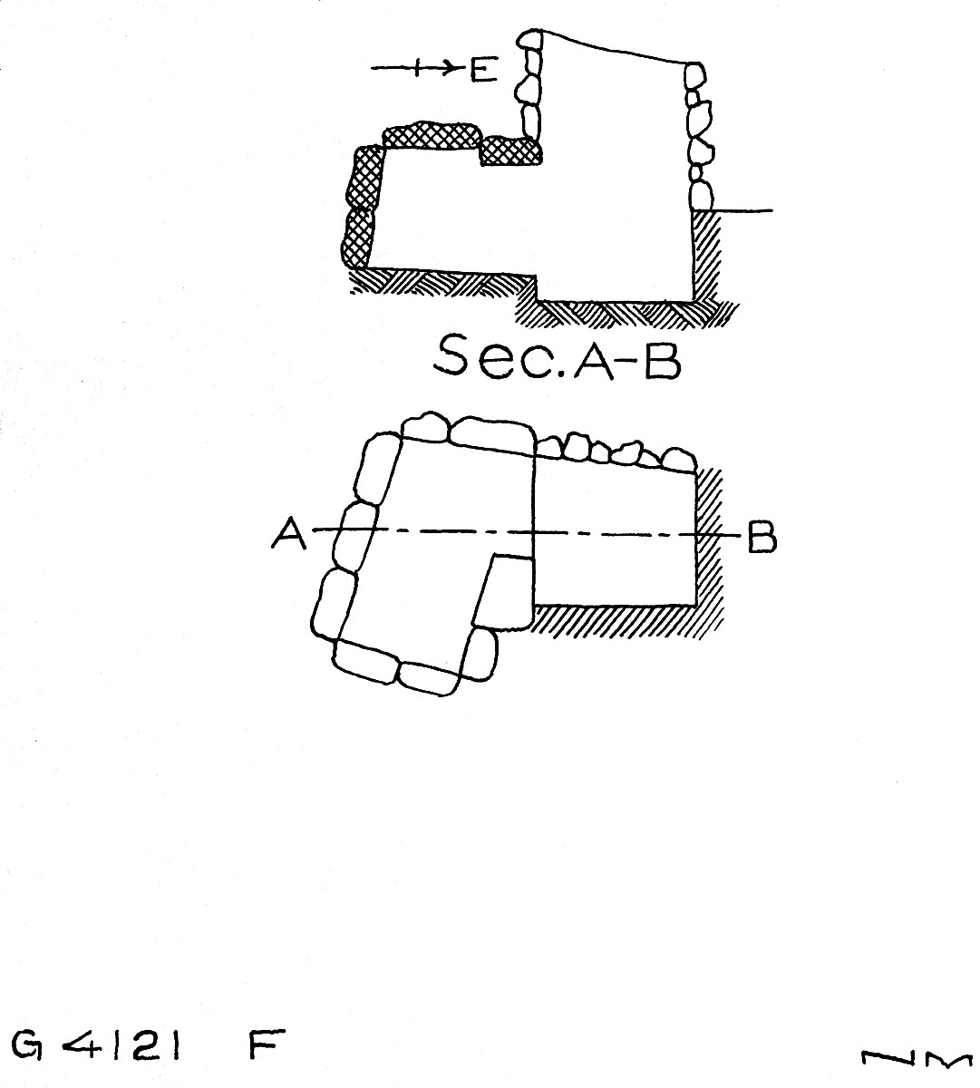 Maps and plans: G 4121, Shaft F