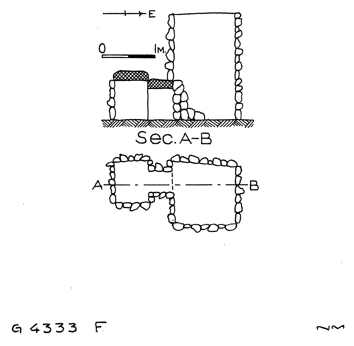 Maps and plans: G 4333, Shaft F