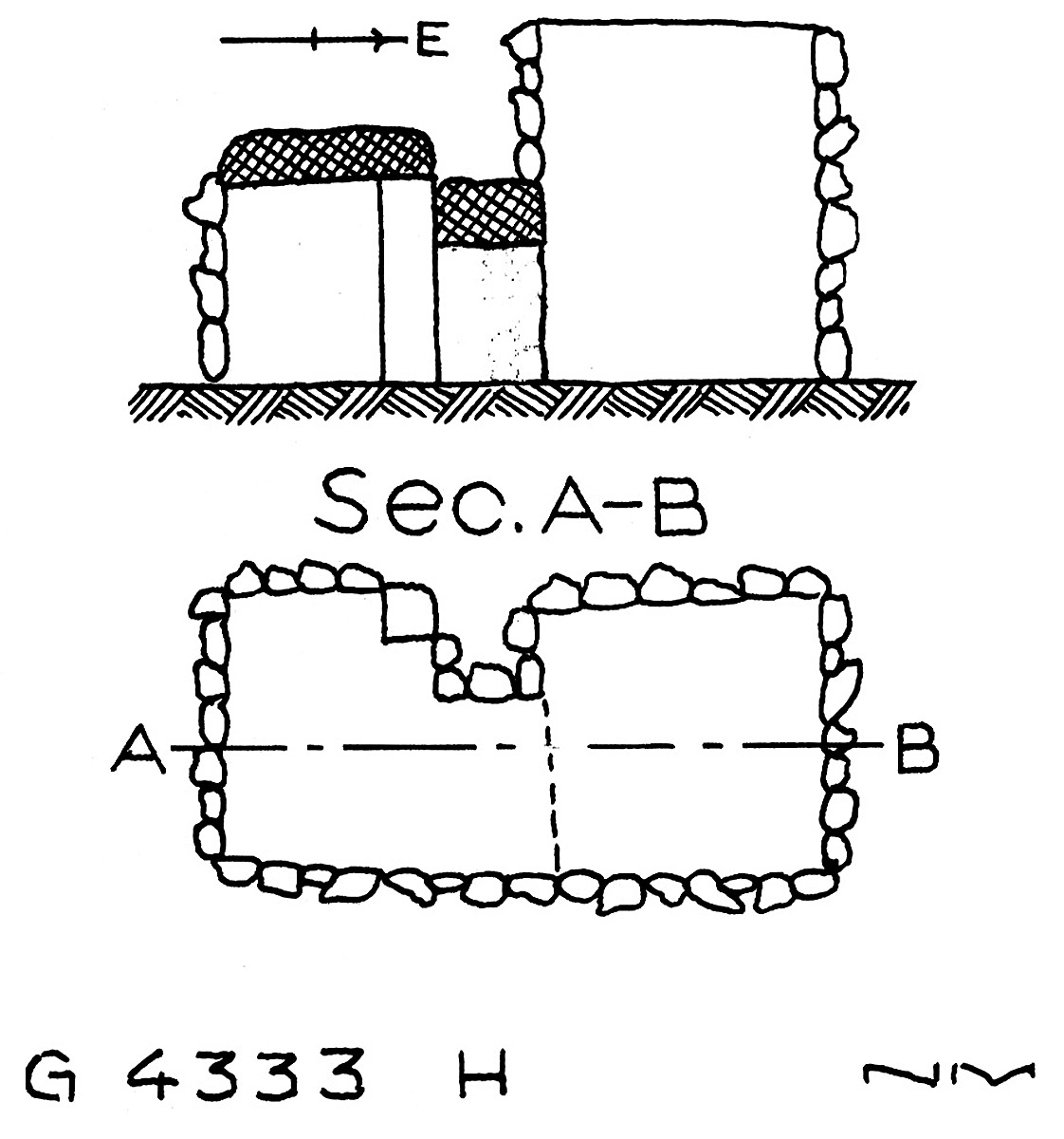 Maps and plans: G 4333, Shaft H