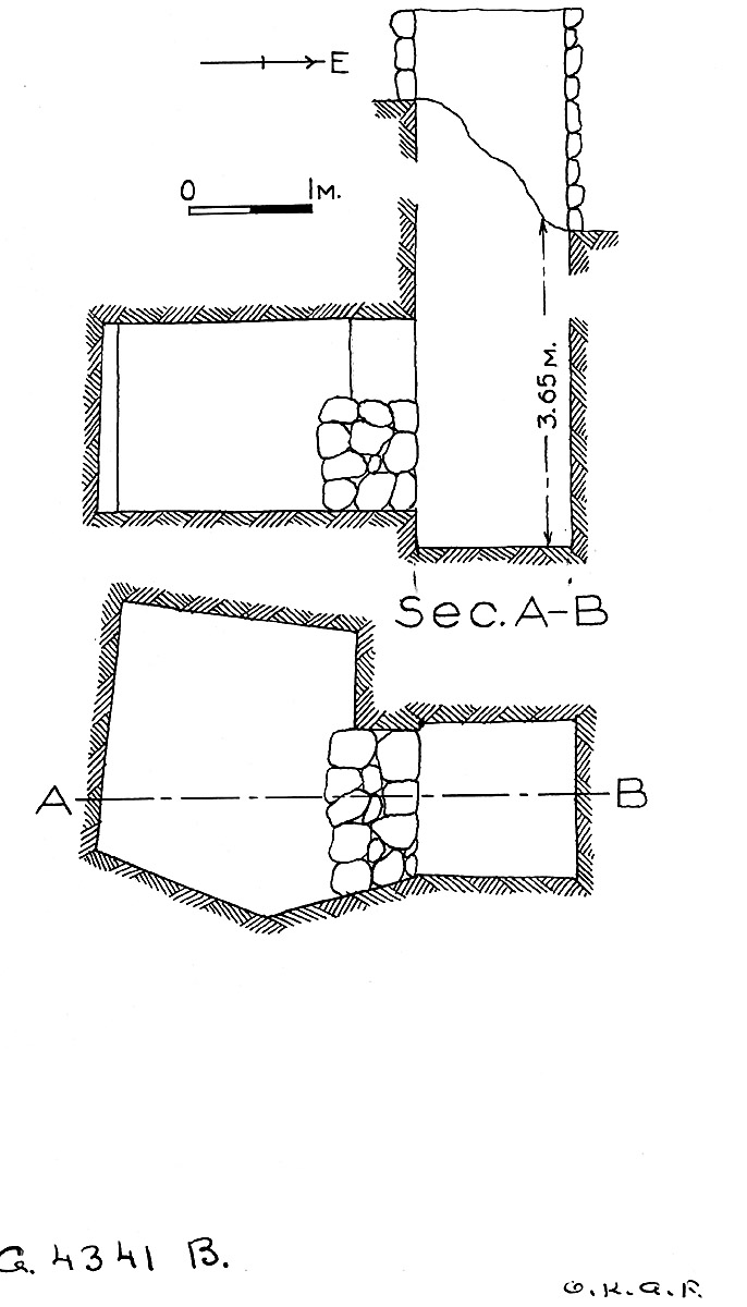 Maps and plans: G 4341, Shaft B