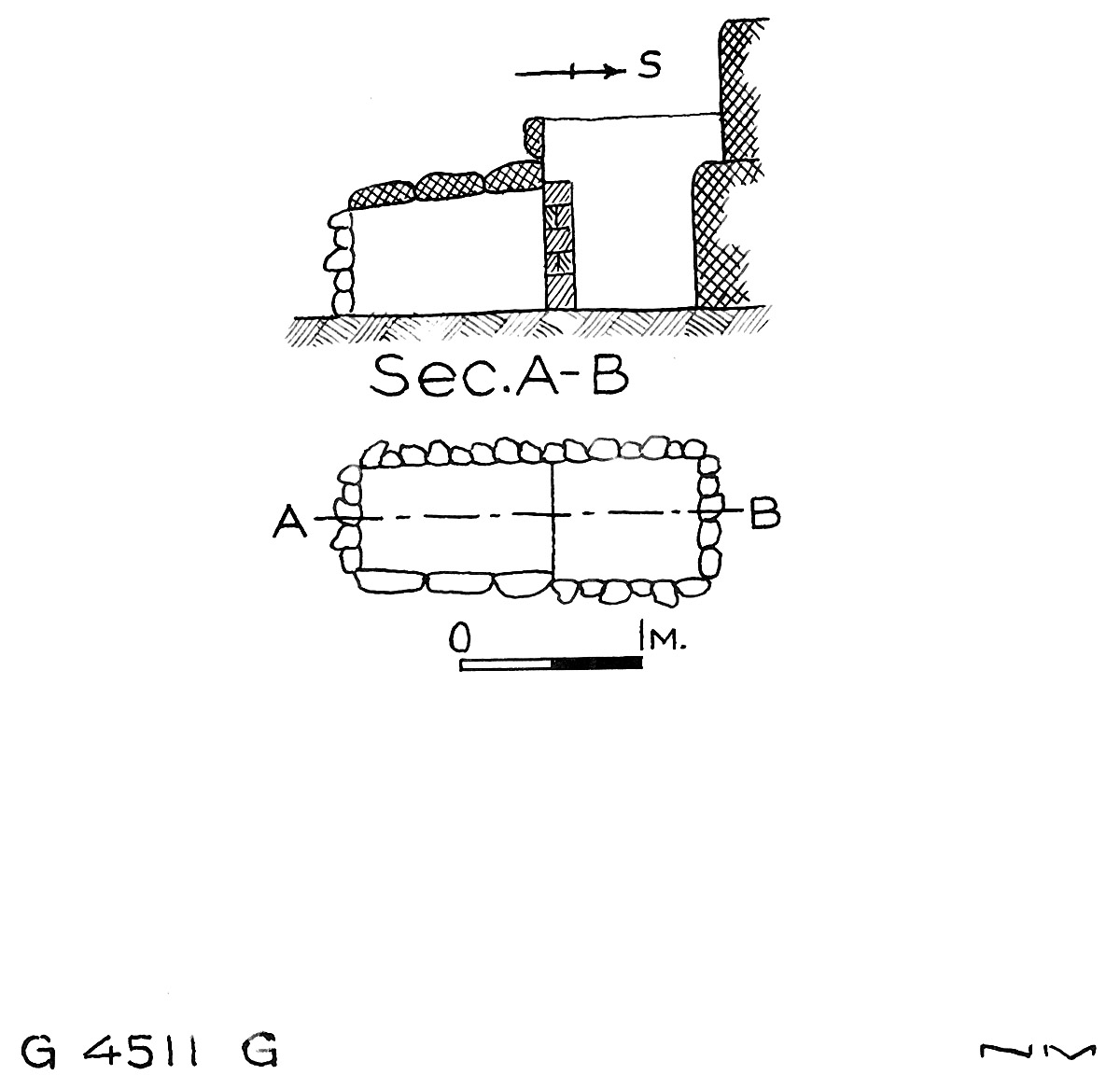Maps and plans: G 4511, Shaft G