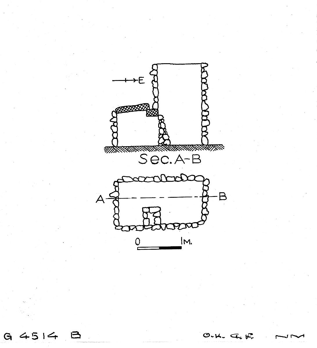 Maps and plans: G 4514, Shaft B