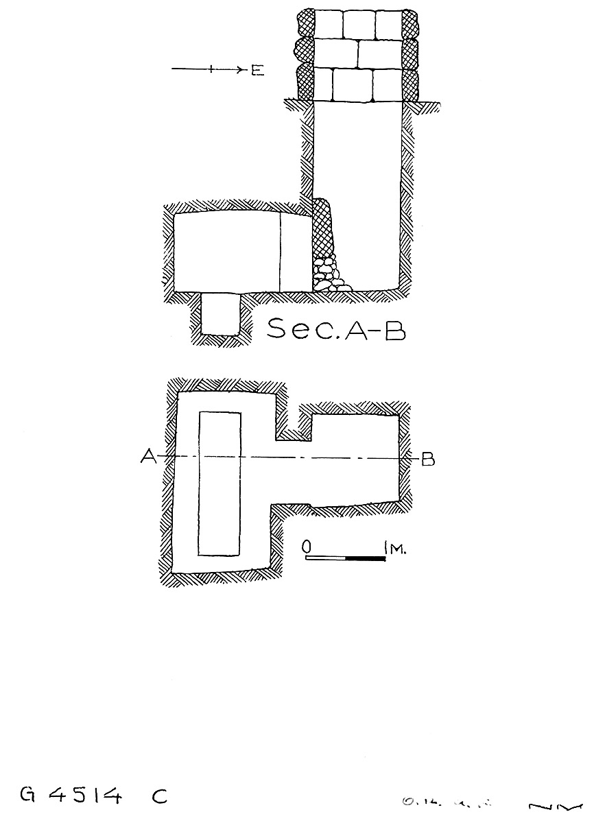 Maps and plans: G 4514, Shaft C