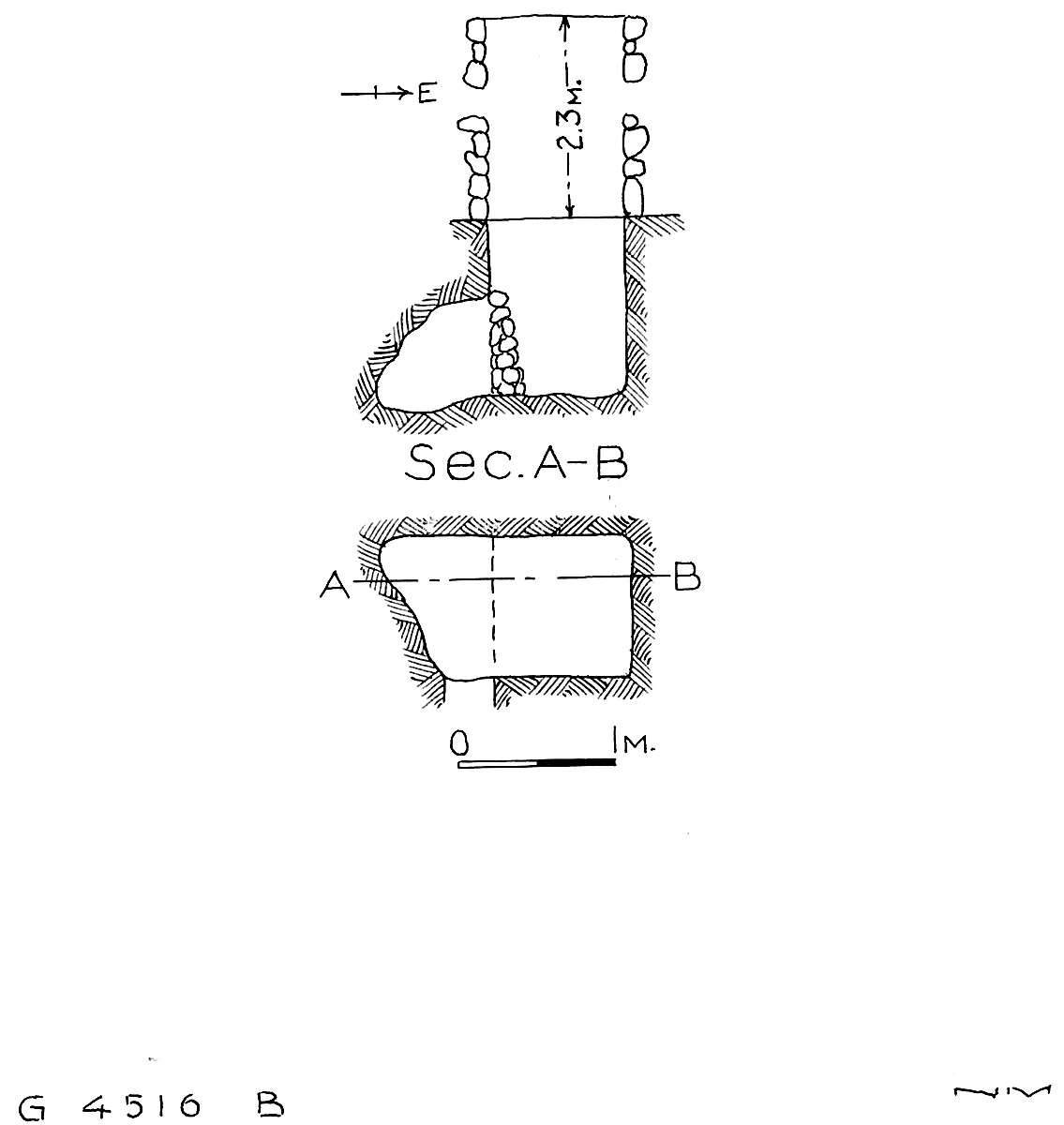 Maps and plans: G 4516, Shaft B