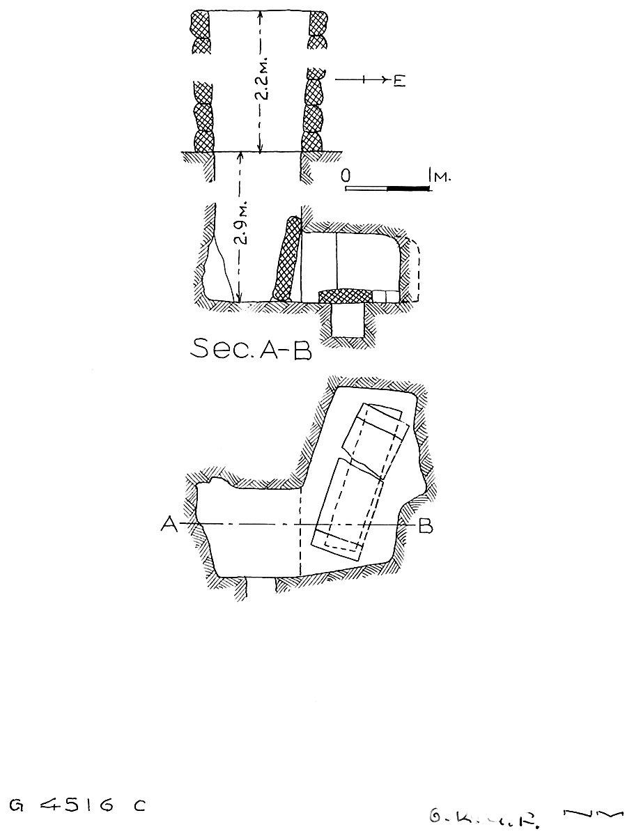 Maps and plans: G 4516, Shaft C