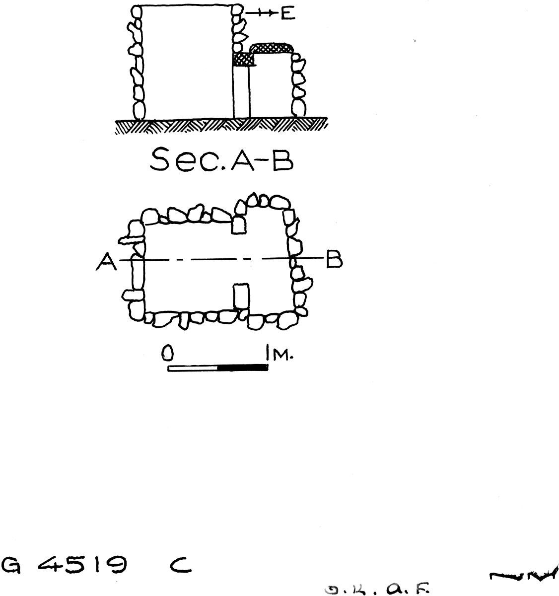 Maps and plans: G 4519, Shaft C