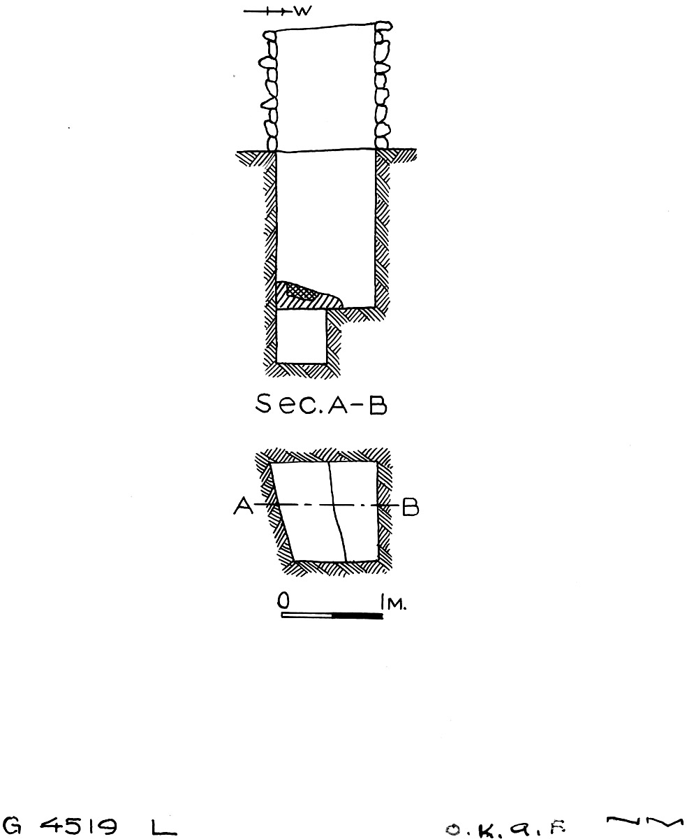 Maps and plans: G 4519, Shaft L