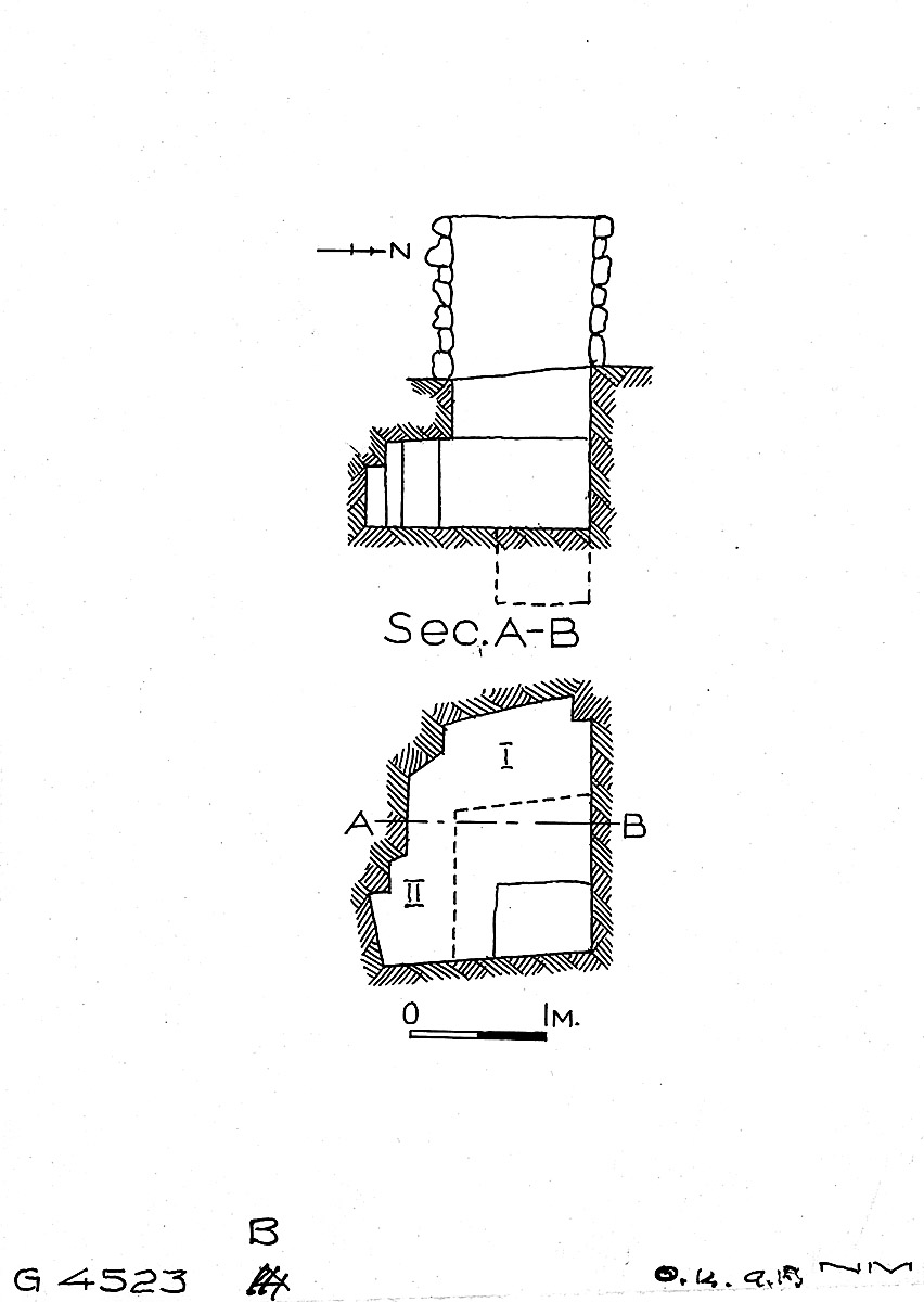 Maps and plans: G 4523, Shaft B