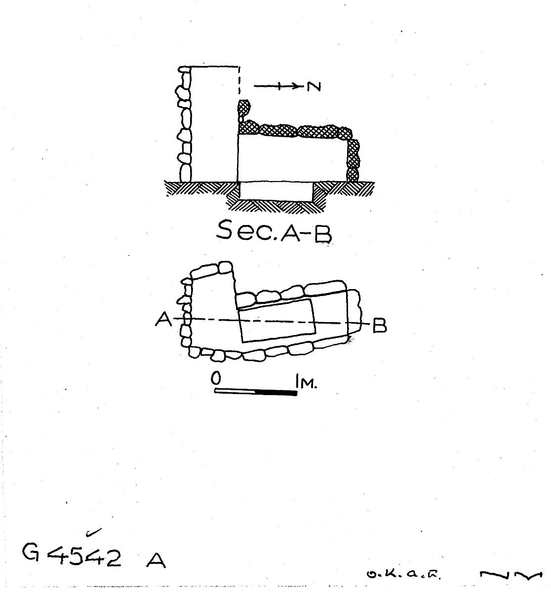 Maps and plans: G 4542, Shaft A