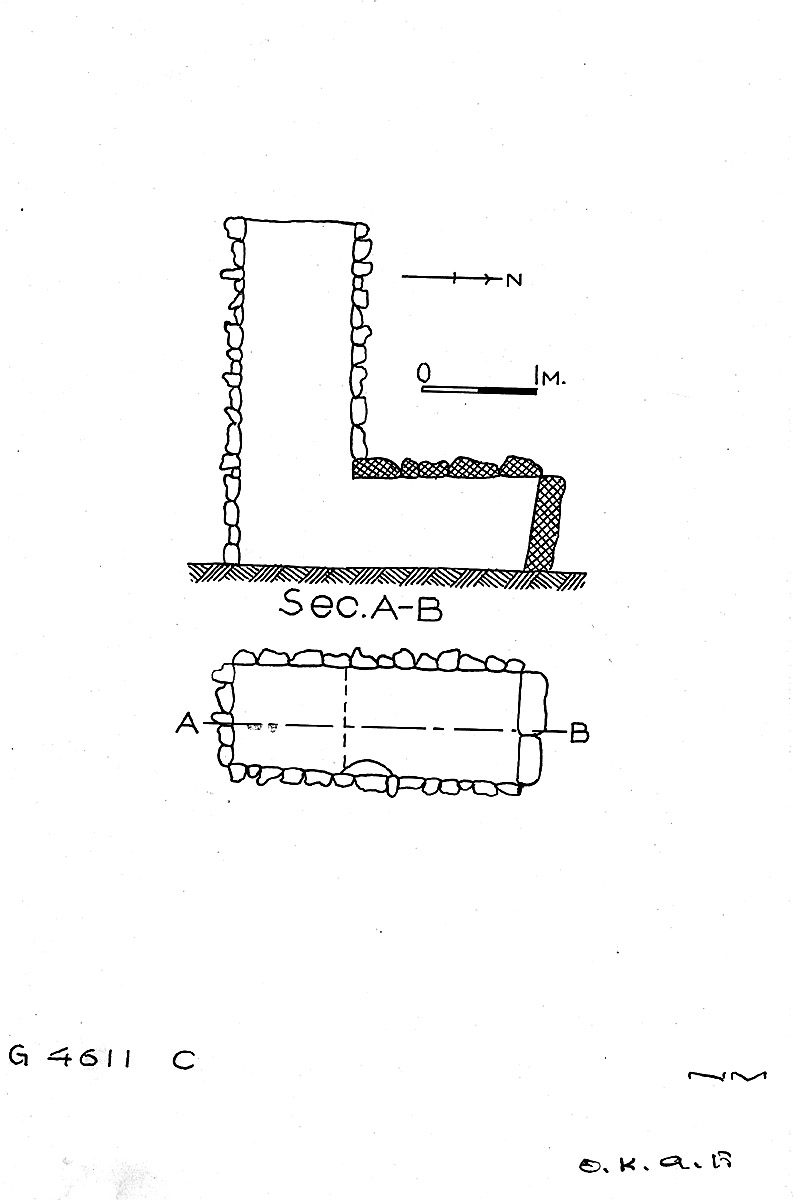 Maps and plans: G 4611, Shaft C