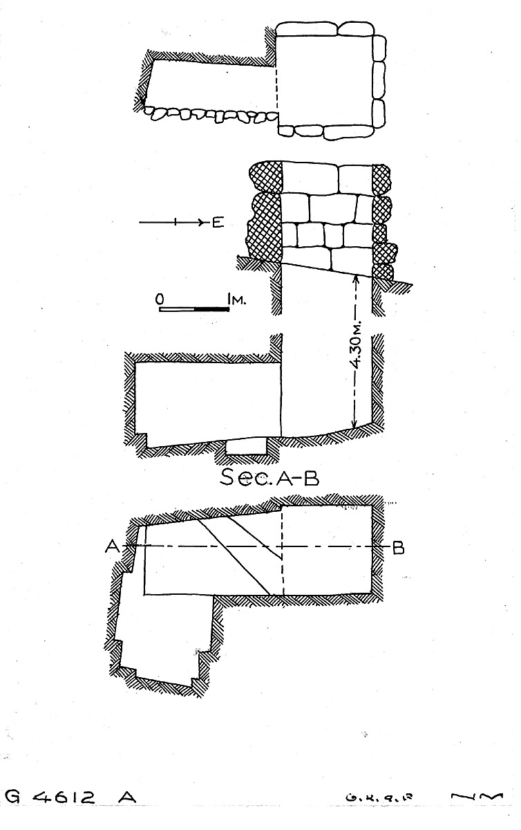 Maps and plans: G 4612, Shaft A