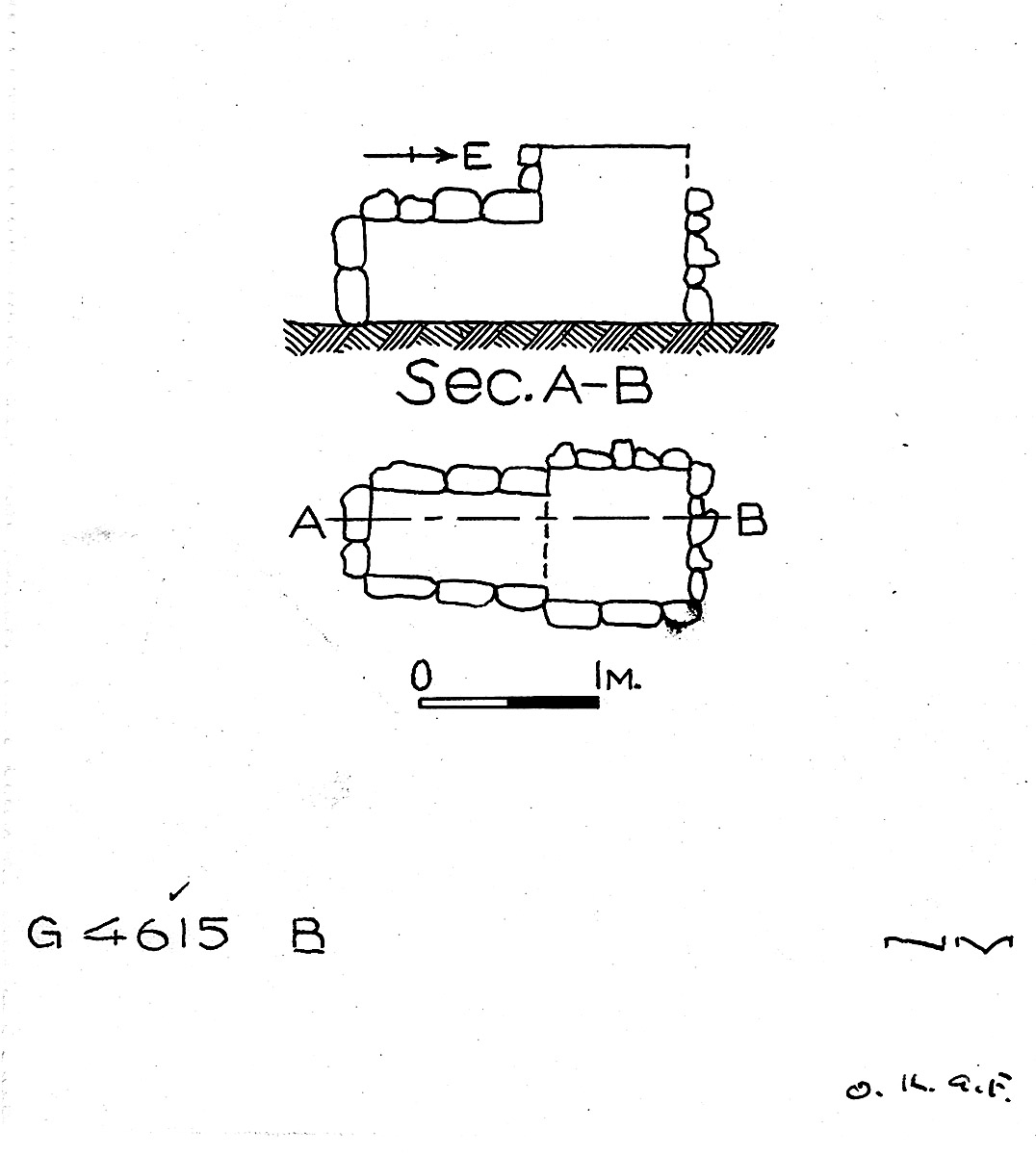 Maps and plans: G 4615, Shaft B