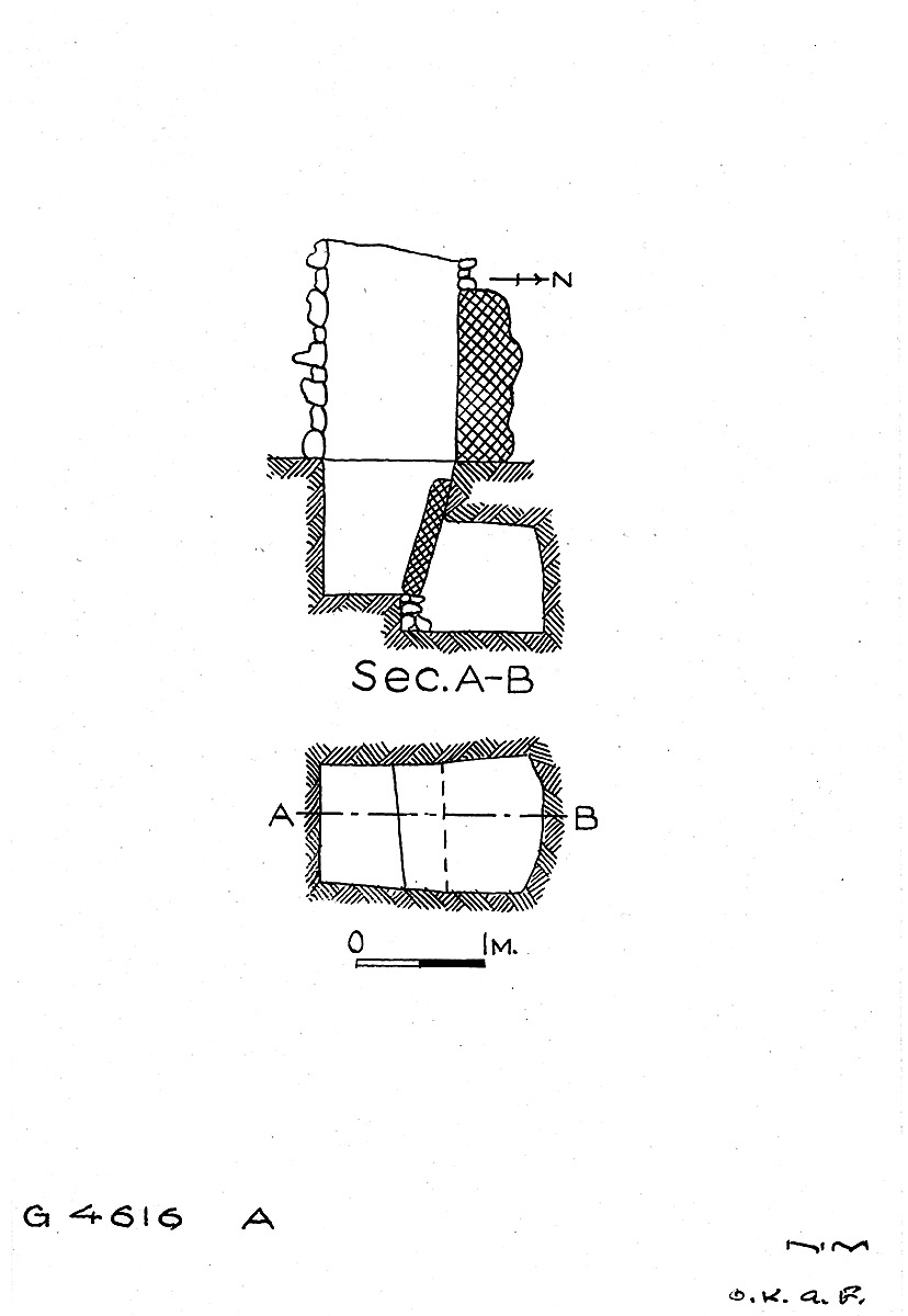 Maps and plans: G 4616, Shaft A
