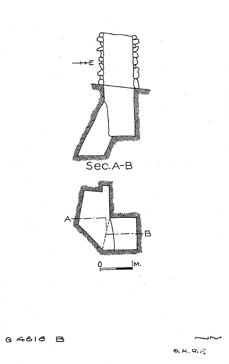 Maps and plans: G 4616, Shaft B