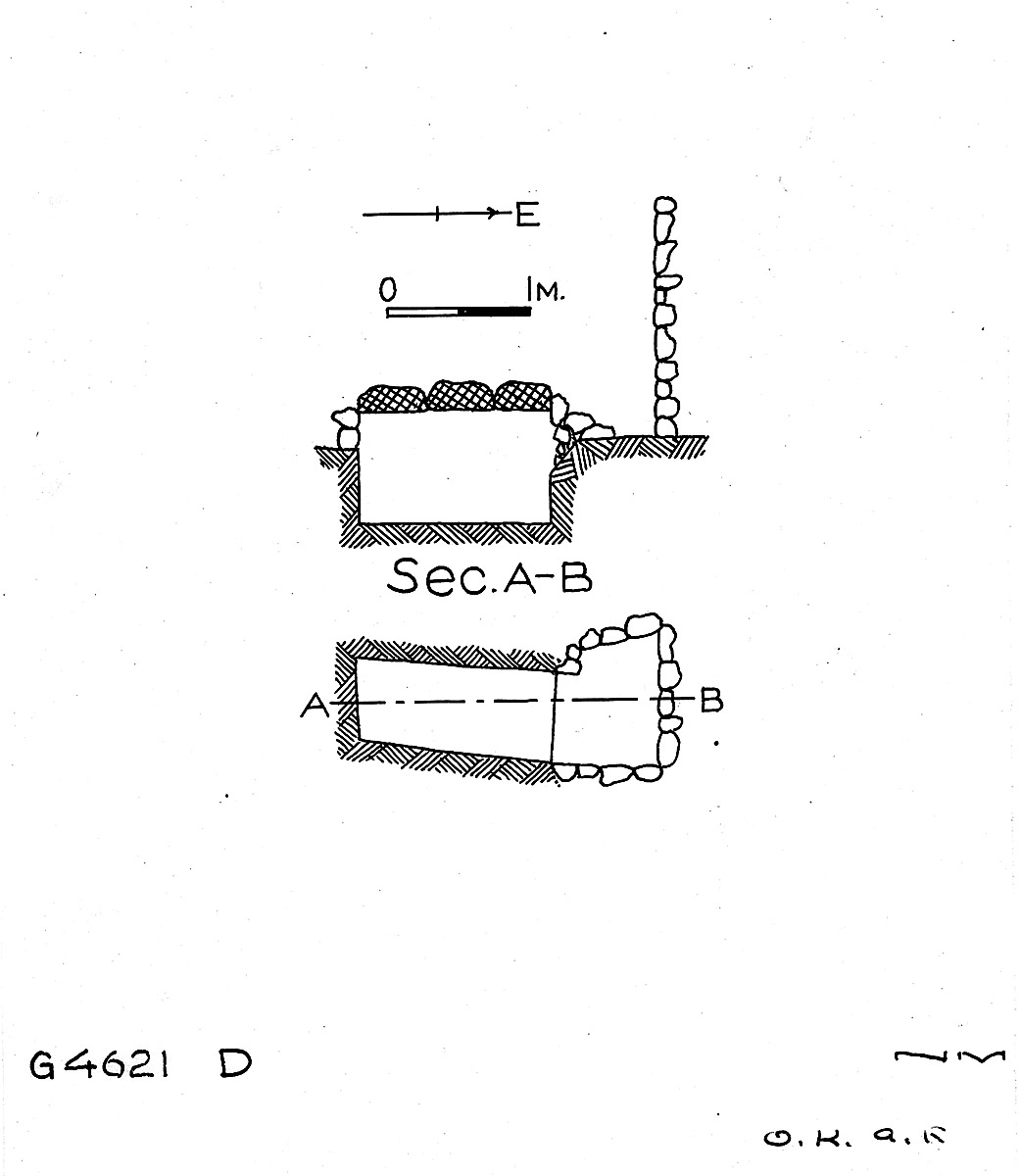 Maps and plans: G 4621, Shaft D
