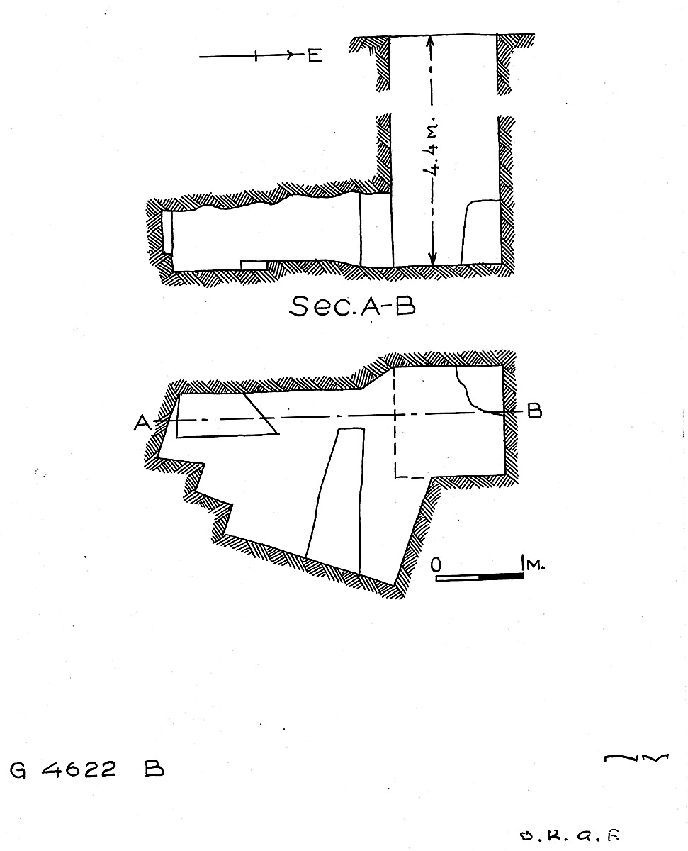 Maps and plans: G 4622, Shaft B