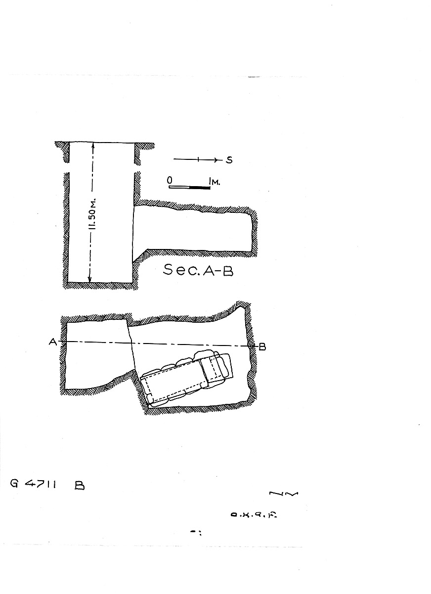 Maps and plans: G 4711, Shaft B