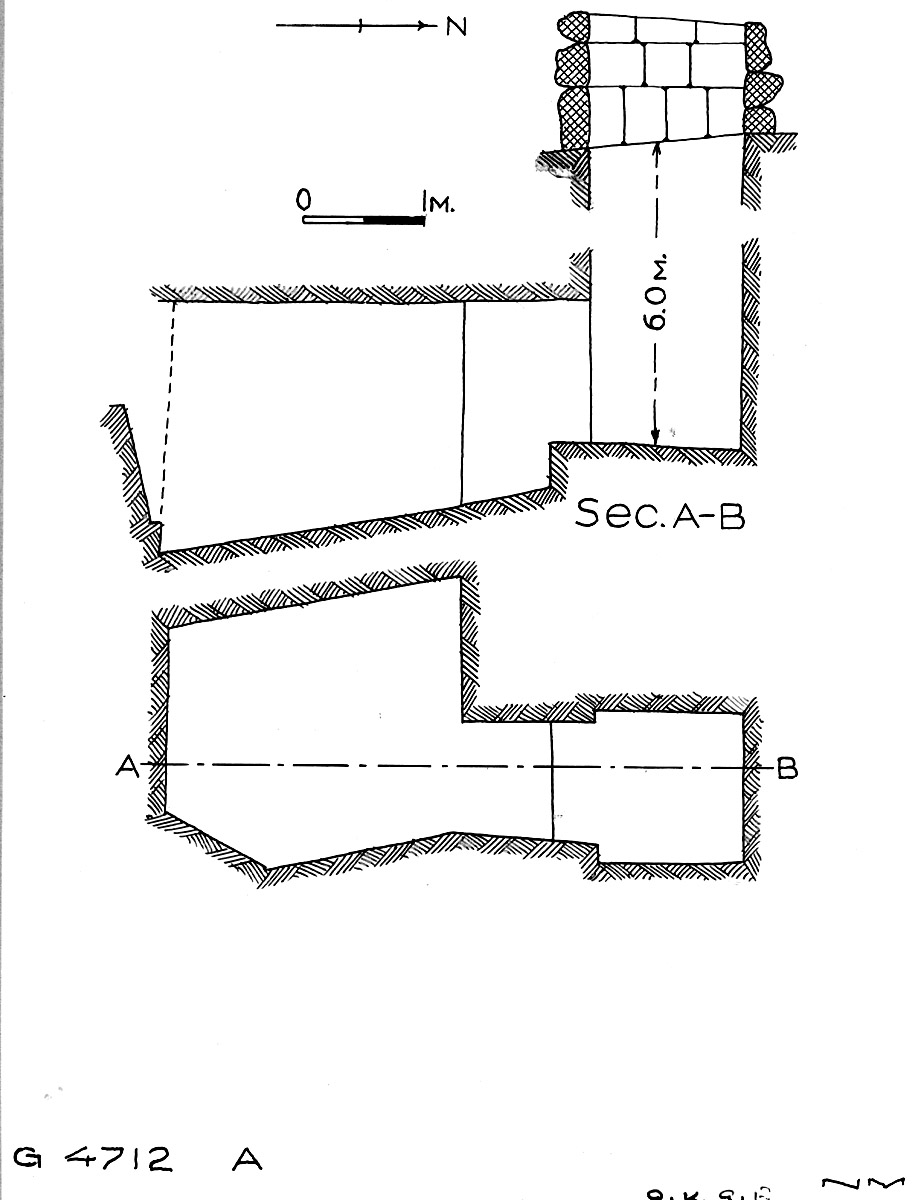Maps and plans: G 4712, Shaft A