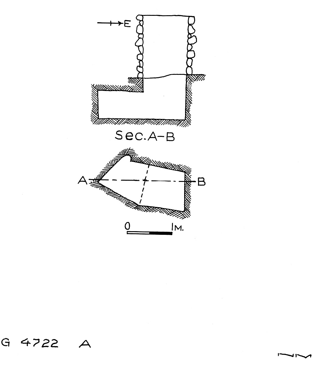 Maps and plans: G 4722, Shaft A