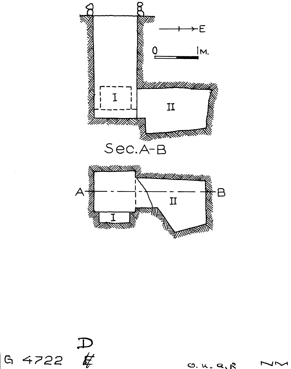 Maps and plans: G 4722, Shaft D