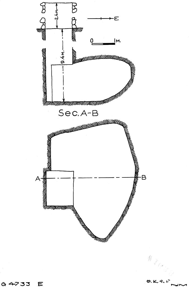 Maps and plans: G 4733, Shaft E