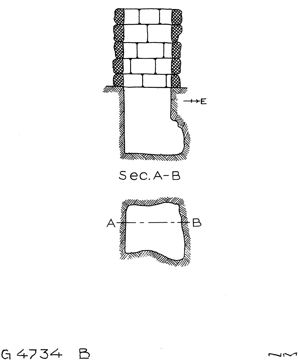Maps and plans: G 4734, Shaft B
