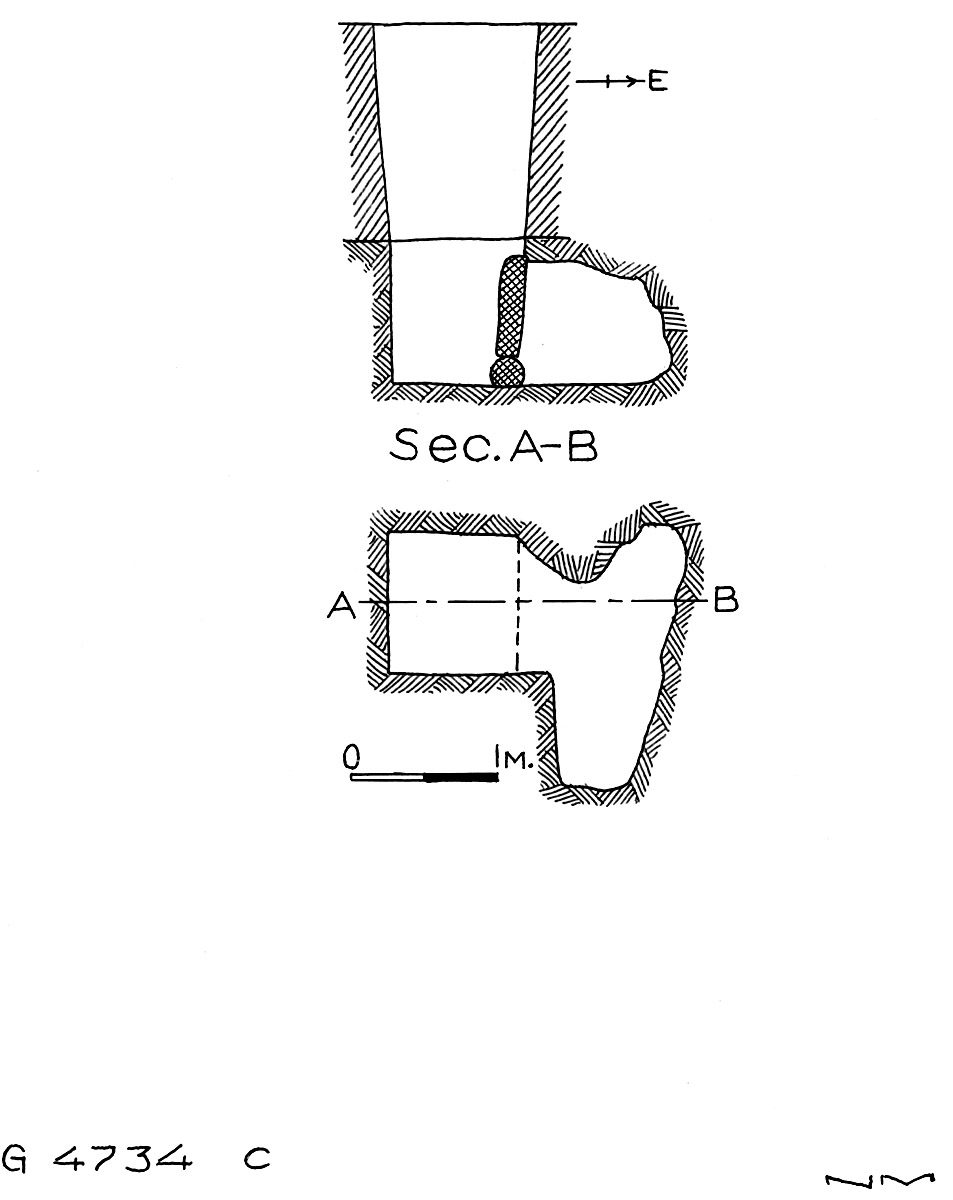 Maps and plans: G 4734, Shaft C