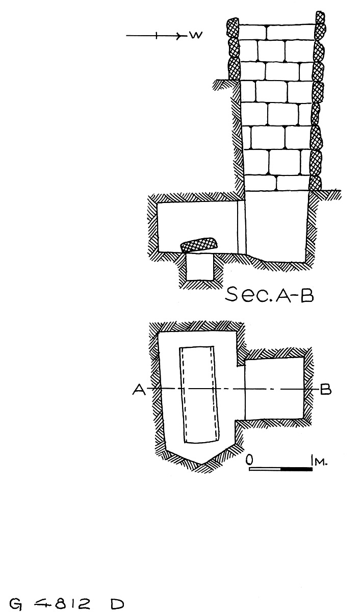 Maps and plans: G 4811+4812: G 4812, Shaft D