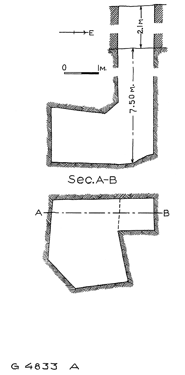 Maps and plans: G 4833, Shaft A