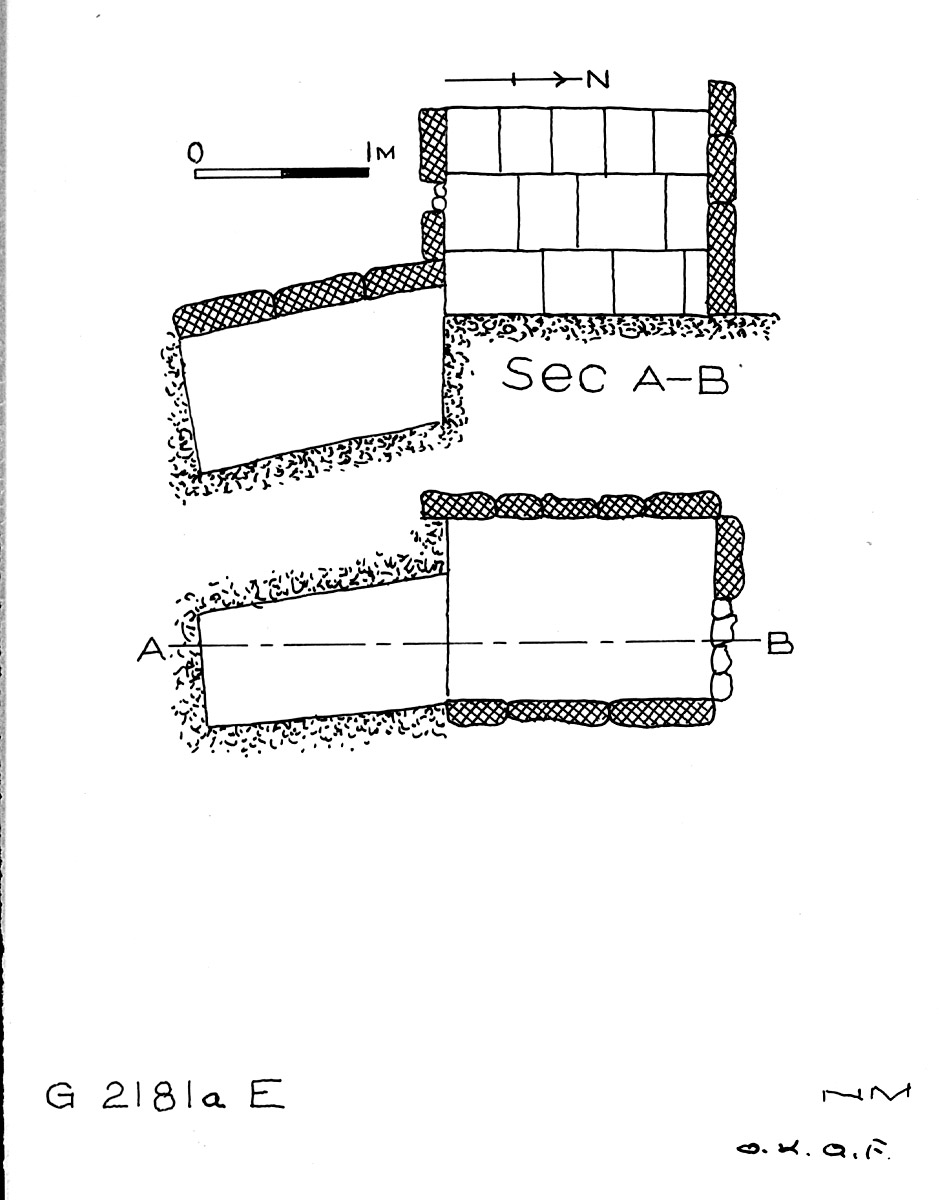 Maps and plans: G 2181a, Shaft E