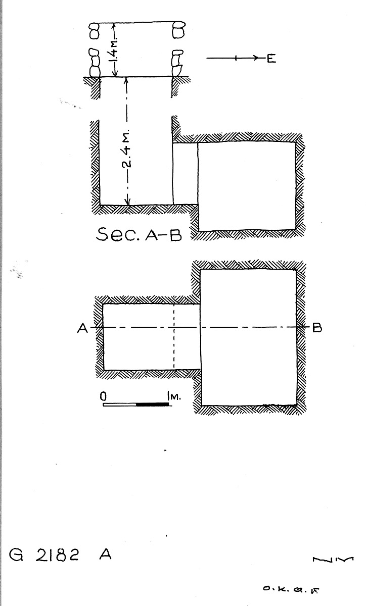Maps and plans: G 2182, Shaft A