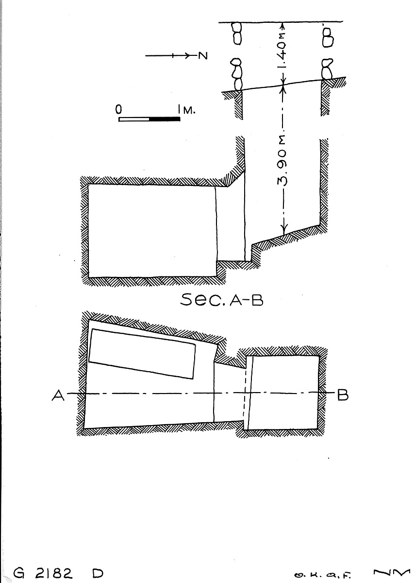 Maps and plans: G 2182, Shaft D