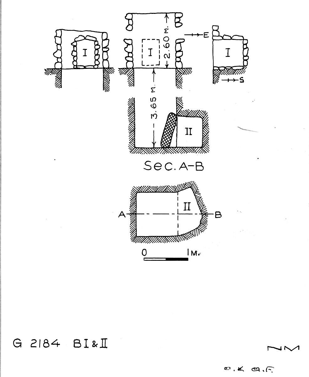 Maps and plans: G 2184, Shaft B (I & II)
