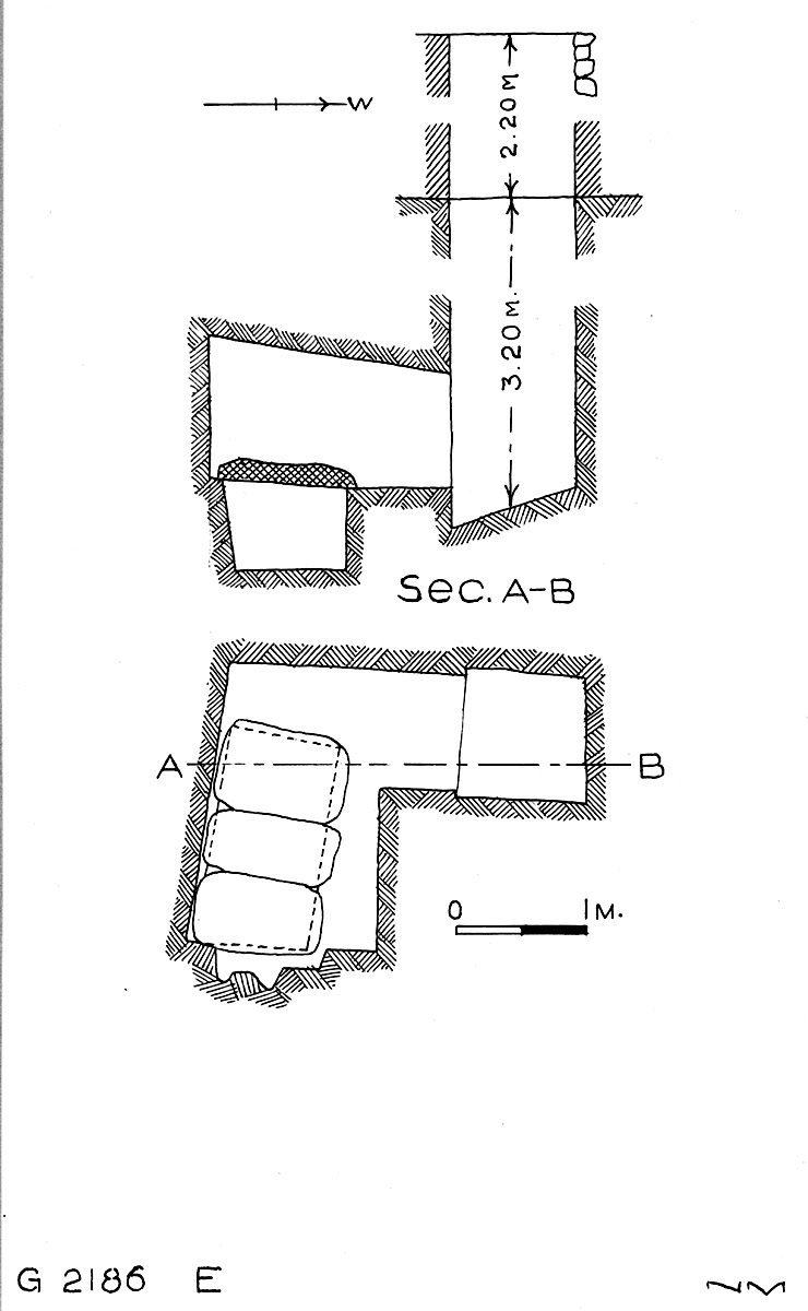 Maps and plans: G 2186, Shaft E
