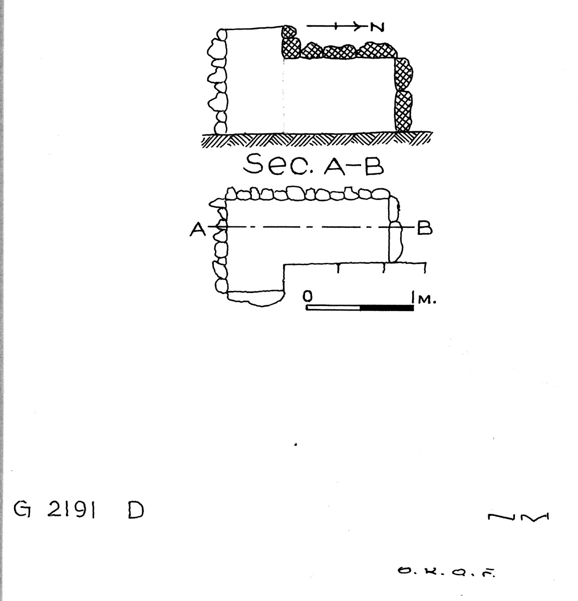 Maps and plans: G 2191, Shaft D
