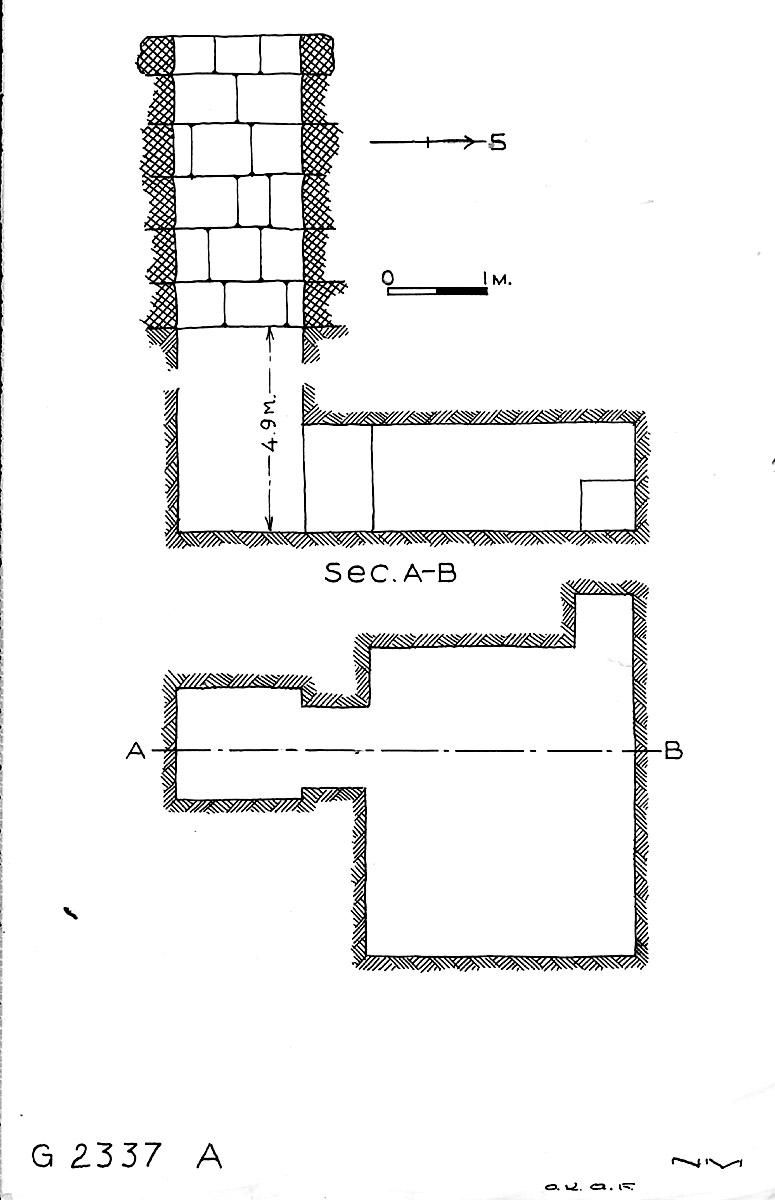 Maps and plans: G 2337, Shaft A
