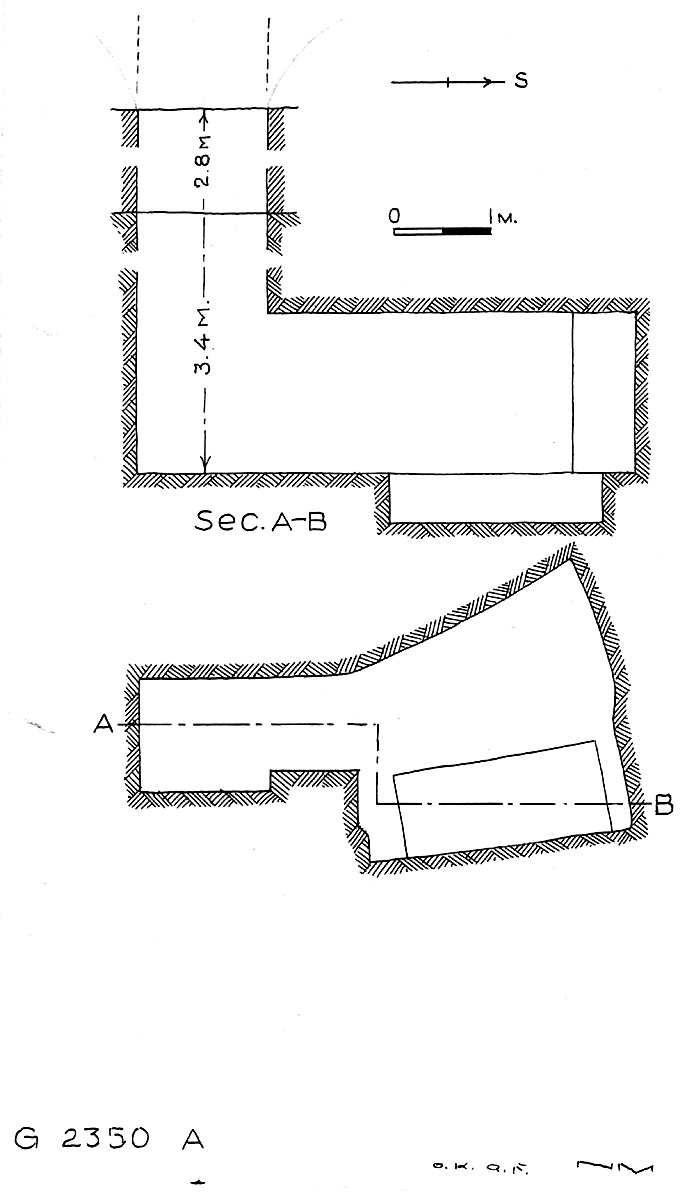 Maps and plans: G 2350 = G 5290, Shaft A