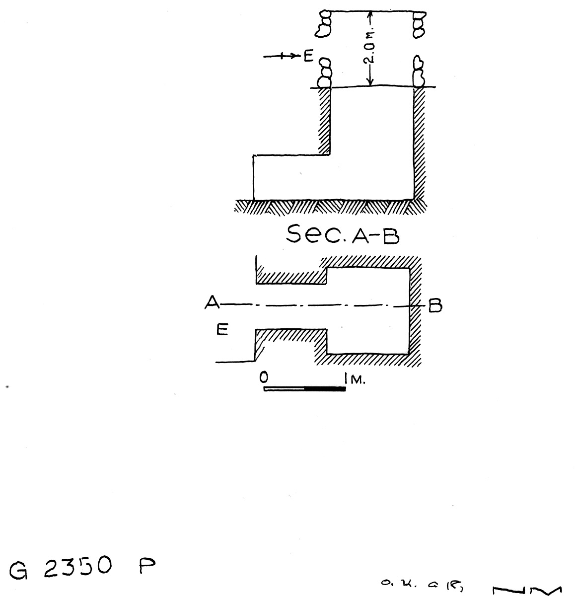 Maps and plans: G 2350 = G 5290, Shaft P
