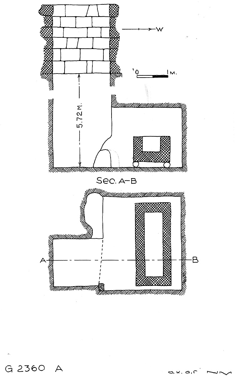 Maps and plans: G 2360, Shaft A