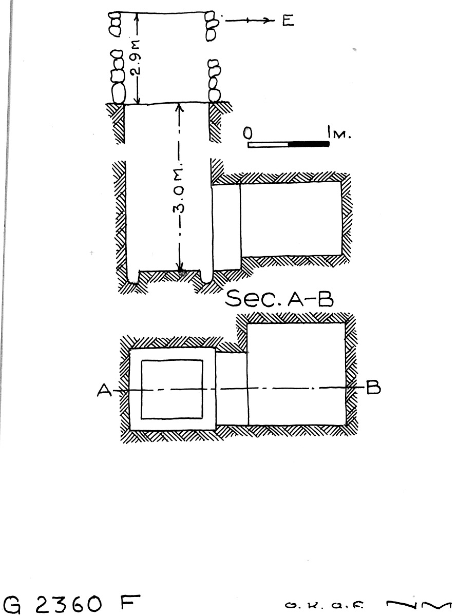 Maps and plans: G 2360, Shaft F