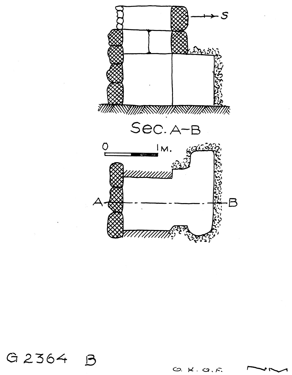 Maps and plans: G 2364, Shaft B