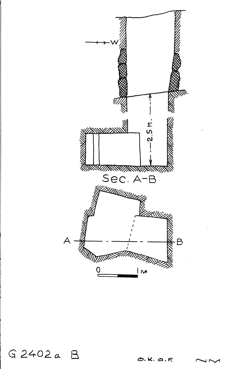 Maps and plans: G 2402a, Shaft B