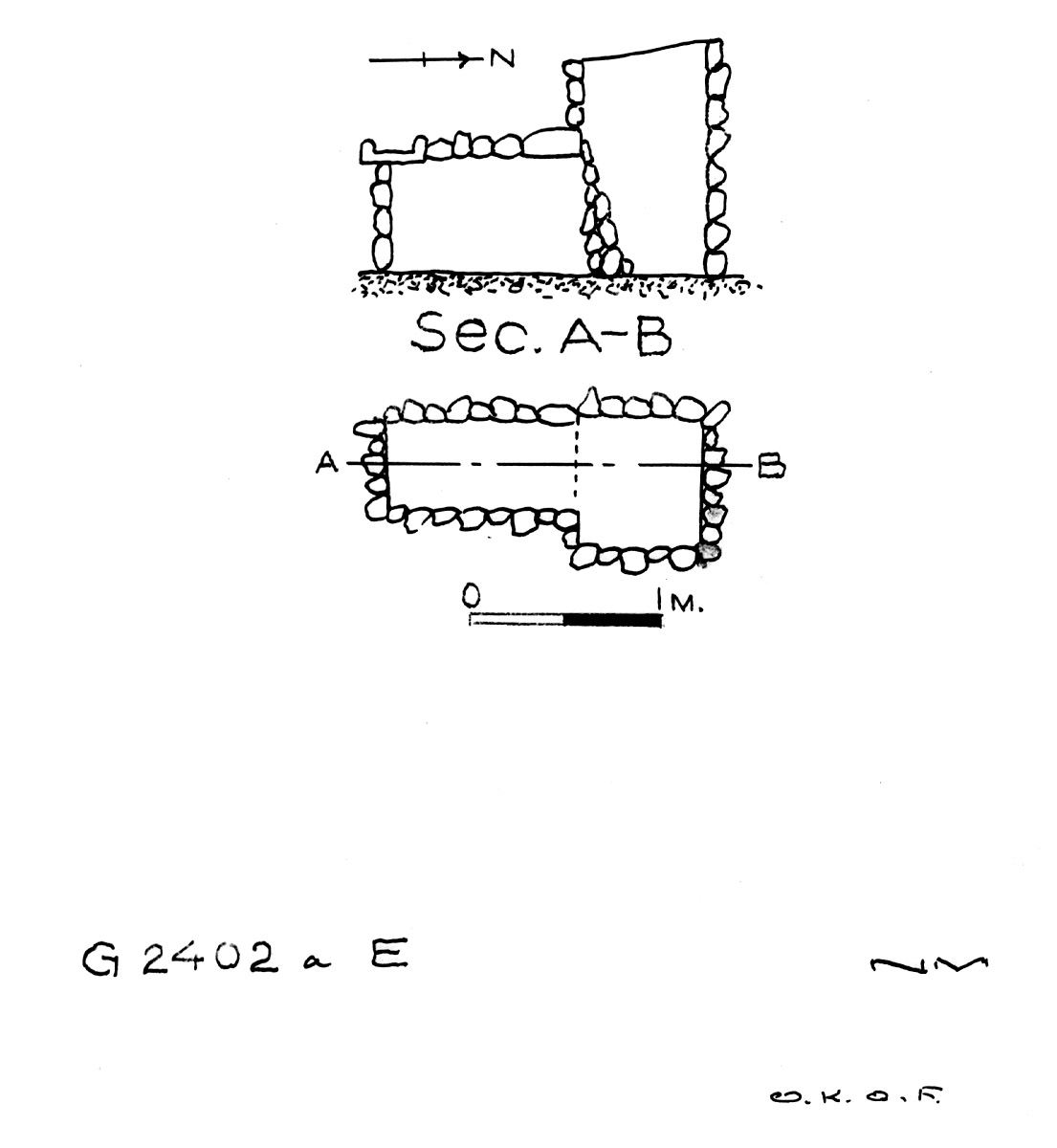 Maps and plans: G 2402a, Shaft E