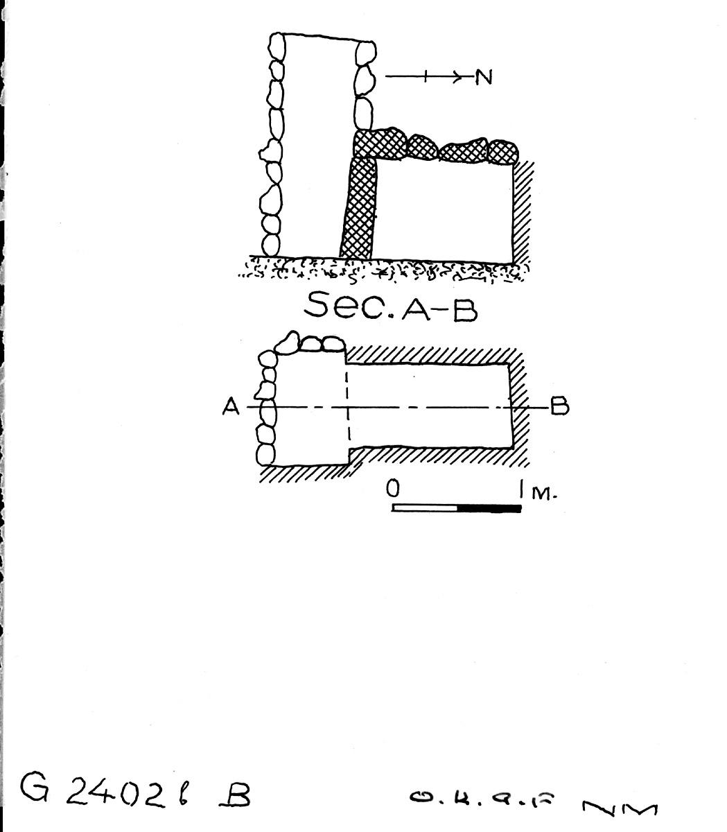 Maps and plans: G 2402b, Shaft B